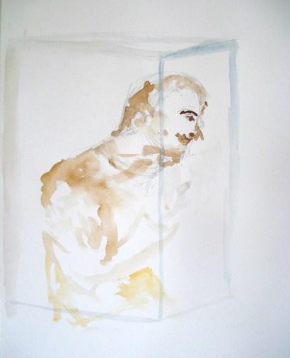 lápis e aquarela, 29,5 x 21cm