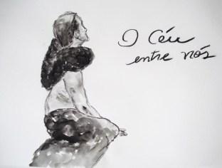 carvão e aquarela, 21 x 29,5 cm