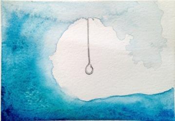 aquarela sobre papel, 13 x 18 cm