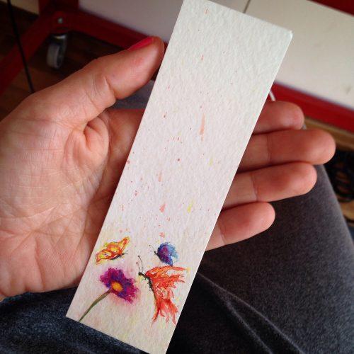 marcador de livro em aquarela / bookmark. Sold