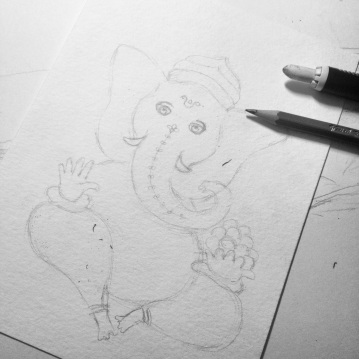 Ganesha, esboço / sketch