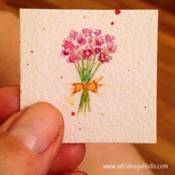 Bouquet, miniature, 2,9 x 2,9 cm