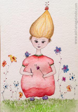 Cipollina, aquarela, 21 x 12,5 cm. Disponível