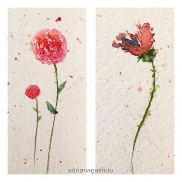 Bookmark / Marcador de livro, aquarela / watercolor