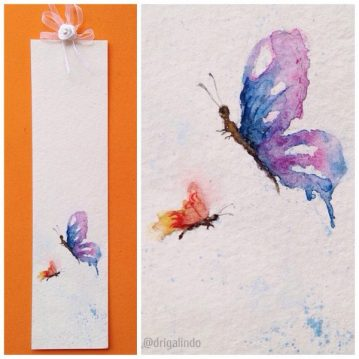 marcador de livro em aquarela / bookmark Sold