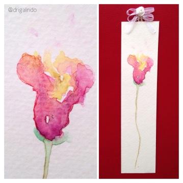 marcador de livro em aquarela / bookmark,. Sold