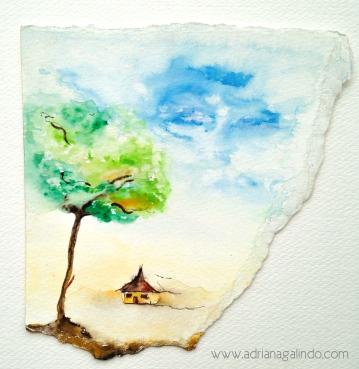 aquarela sobre papel, 17x17cm. Sold