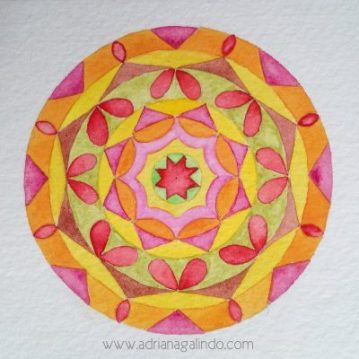 Aquarela sobre papel, 11 x 11 cm. Sold