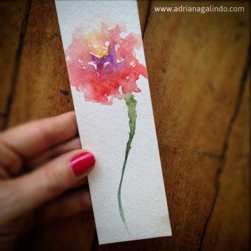 marcador de livro em aquarela/ bookmark. Sold