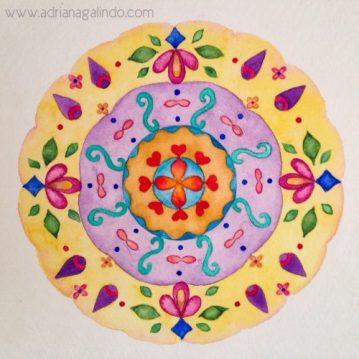 Aquarela sobre papel, 14 x 14 cm. Sold