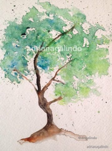 3 Tree 3, 21 x 15 cm. Sold - adrianagalindo
