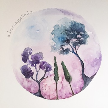 Árvore 30, Tree 30, aquarela , watercolor, Available