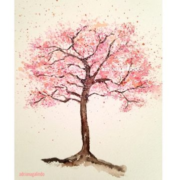 20 Cerejeira, árvore 20, aquarela / Cherry tree, watercolor , Sold