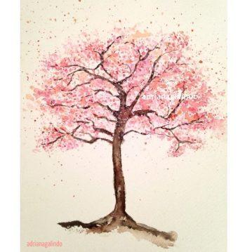 20 Cerejeira, árvore 20, aquarela / Cherry tree, watercolor , Sold
