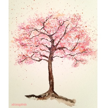 Cerejeira, árvore 20, aquarela / Cherry tree, watercolor , Sold