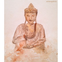 Buda, aquarela, 30,,5 x 22,9 cm. Available