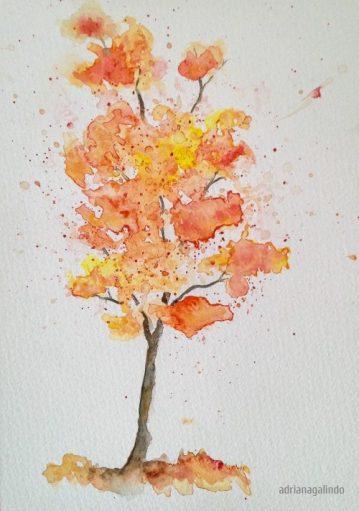 4 Tree 4, 21 x 15 cm. Sold