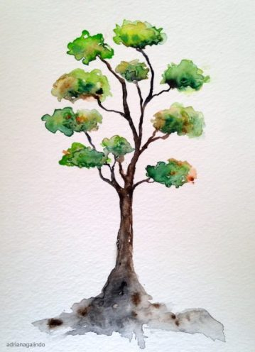 12 Árvore, tree 12, 21×15 cm. Sold