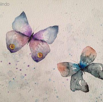 Butterflies, 15x21 cm. Sold