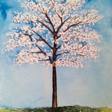 9 Ipê-branco, tree 9, 21x15 cm. Sold