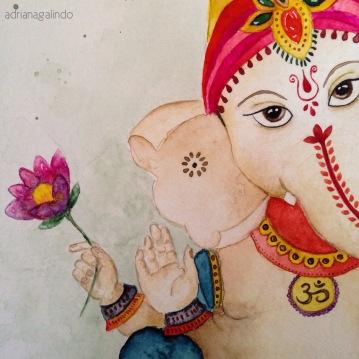 Lord Ganesha, detail