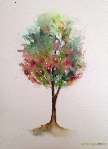 10 Árvore, tree 10, 21×15 cm. Sold