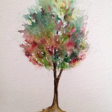 10 Árvore, tree 10, 21×15 cm. Sold