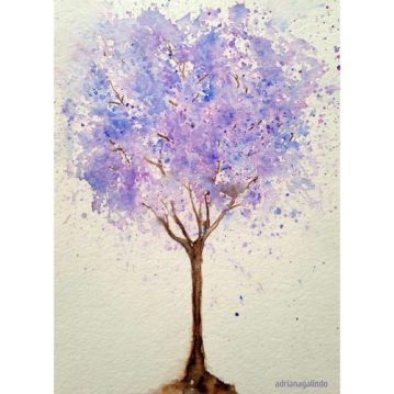 13 Jacarandá Mimoso, tree 13, 21×15 cm. Sold