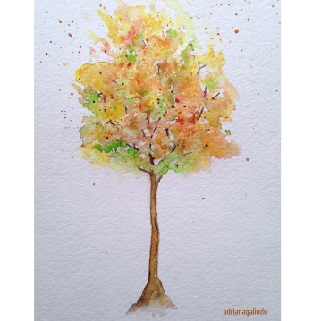 14 Outono, tree 14, 21×15 cm. SOLD