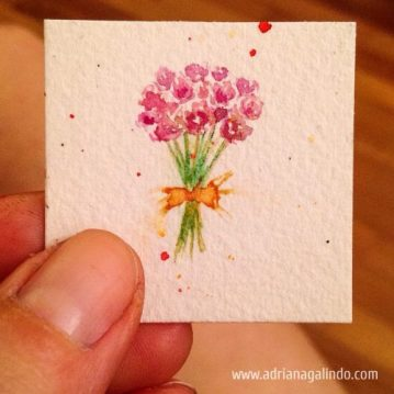 Miniature, watercolor, available