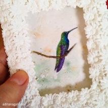 Amor em miniatura, aquarela emoldurada 🎨 sold