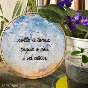 Bordado aquarelado, aro 14cm, disponível/available
