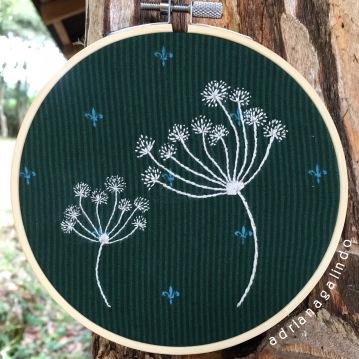 Bordado. Embroidery, 13cm, sold