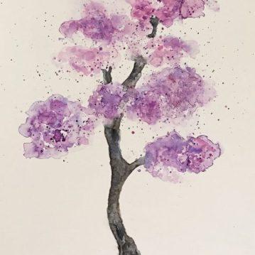 22 Árvore 22, tree 22, aquarela / watercolor , 43 x 30,50 cm. Sold