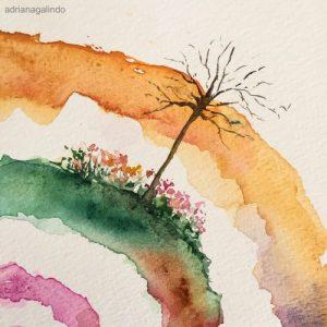24 Árvore 24, tree 24, aquarela, watercolor. Disponível / Available