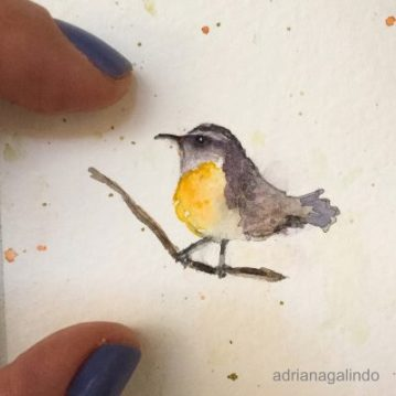 Little love/ Amor em miniatura, aquarela emoldurada 🎨 vendido/sold