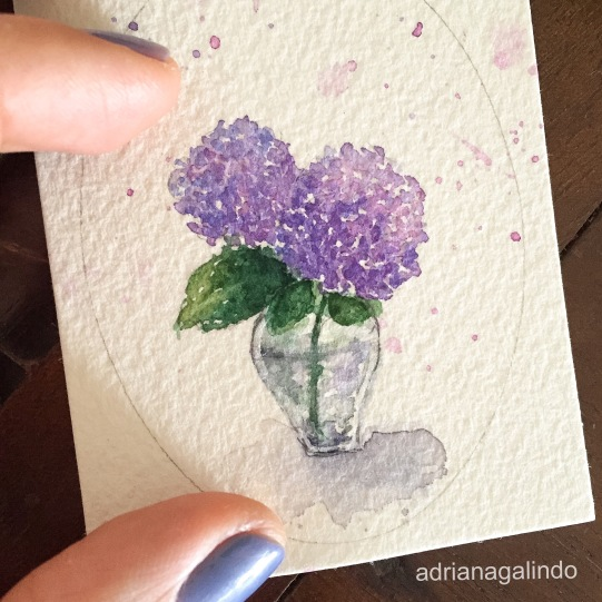 Amor em miniatura, aquarela emoldurada 🎨 available/disponivel