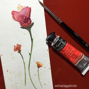 Bookmark / Marcador de livro, aquarela / watercolor
