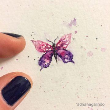 Amor em miniatura, aquarela emoldurada 🎨 available/disponível