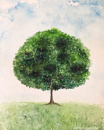 26 Árvore 26, tree 26, aquarela, watercolor,. Sold