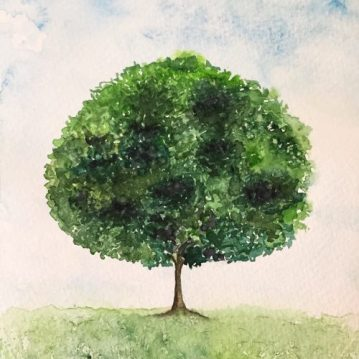 26 Árvore 26, tree 26, aquarela, watercolor,. Sold