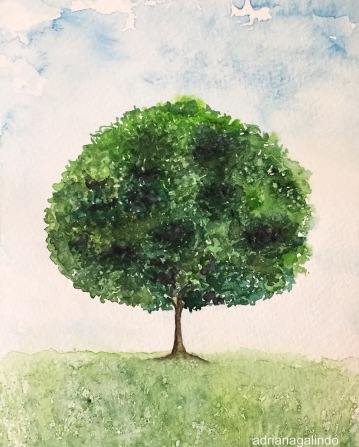 Árvore 26, tree 26, aquarela, watercolor,. Sold