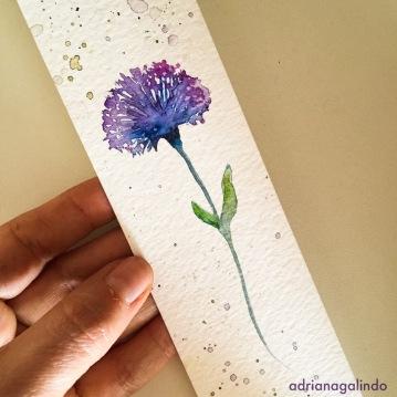 marcador de página em aquarela / bookmark.