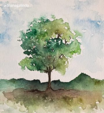 31 Árvore 31, Tree 31, watercolor, aquarela. SOLD