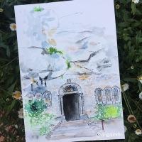 grotte sainte marie madeleine / Gruta de Maria Madalena, Aquarela / Watercolor