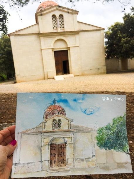 Monastère Saint Michel du Var , aquarela / watercolor