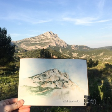 Montagne Sainte Victoire, Aquarela / watercolor