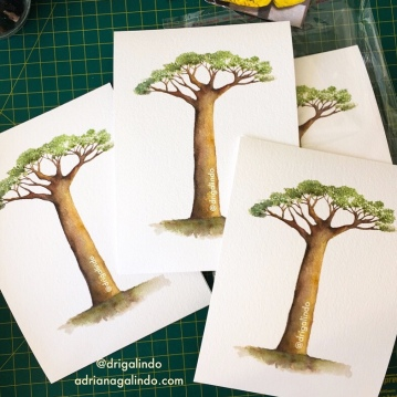 Baobá, reprodução fineart