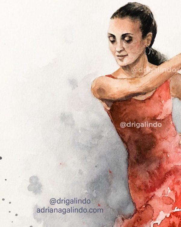 Detalhe - retrato Ale Bailando Flamenco, 2021